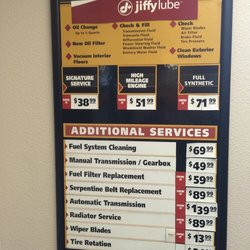 Prices For Jiffy Lube Prices For Oil Change