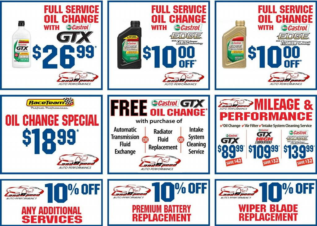 Classic oil change coupons