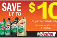 Castrol oil change coupon: Save $10