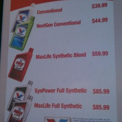 Prices For Valvoline Prices For Oil Change