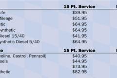 Valvoline premium oil cost