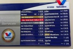 Valvoline prices