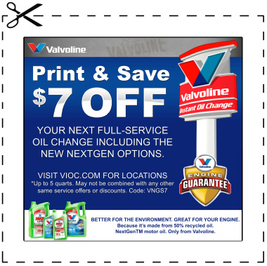 Valvoline Instant Oil Change Coupon — Oil Change Coupons Pro