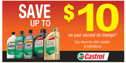Ntb Oil Change Coupon >> Castrol Oil Change Coupons, Prices, Locations & Hours
