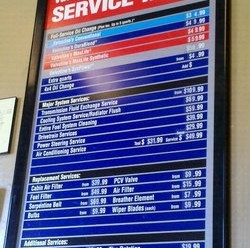 Valvoline Oil Change Price