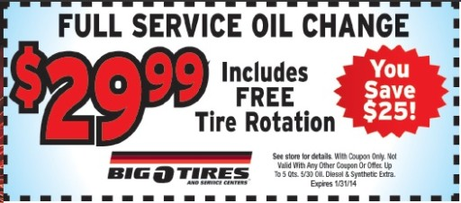 Big O Tires Oil Change Prices & Coupons — Oil Change ...