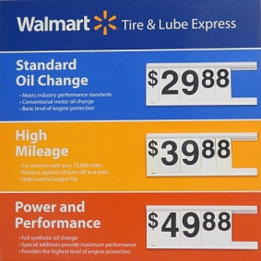 Walmart Oil Change Prices